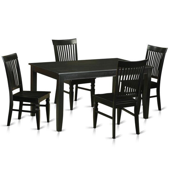 dinette table and chairs white black rubberwood 5piece dinette table set shop free shipping
