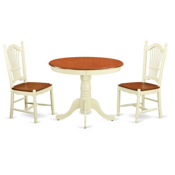 3-piece Kitchen Table Set with Kitchen Table and 2 Kitchen Dining Chairs