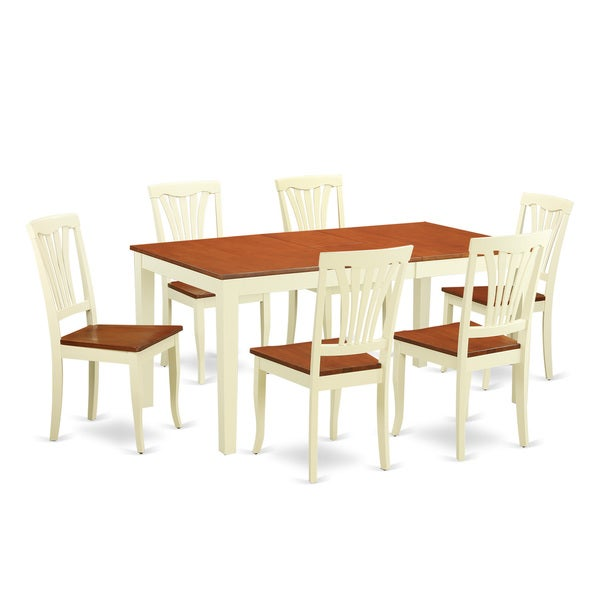 Archibald 7 Piece White Dining Set: Shop Traditional White Finish Solid Rubberwood 7-Piece