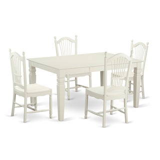 WEDO5 White Rubberwood Five-piece Dining Set