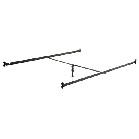 Structures Hook-in Metal Bed Rails with Adjustable Height Center Support