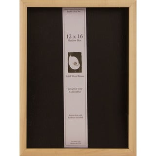 12-inch x 16-inch Unfinished Natural Wood DIY Shadow Box Elite Frame