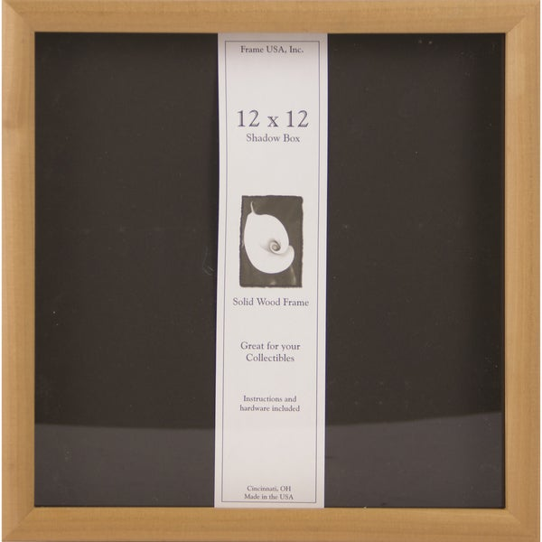 Wooden 12x12 Elite Frame Unfinished Shadow Box Free