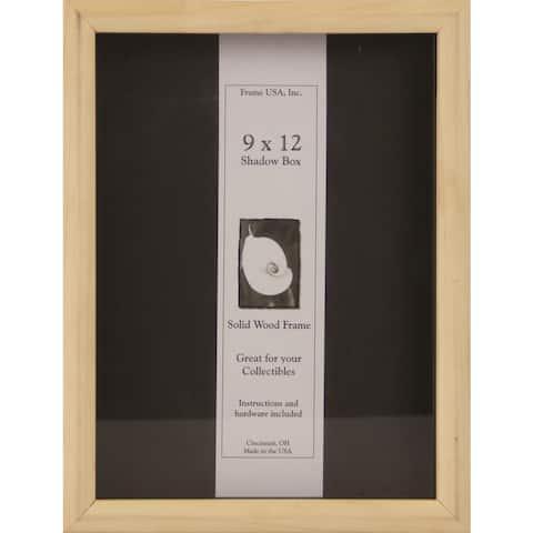Elite 9-inch x 12-inch Unfinished Wood DIY Shadow Box Frame