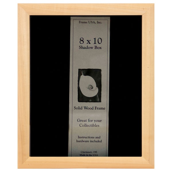Elite Frame Wooden 8-inches by 10-inches Unfinished DIY Shadow Box