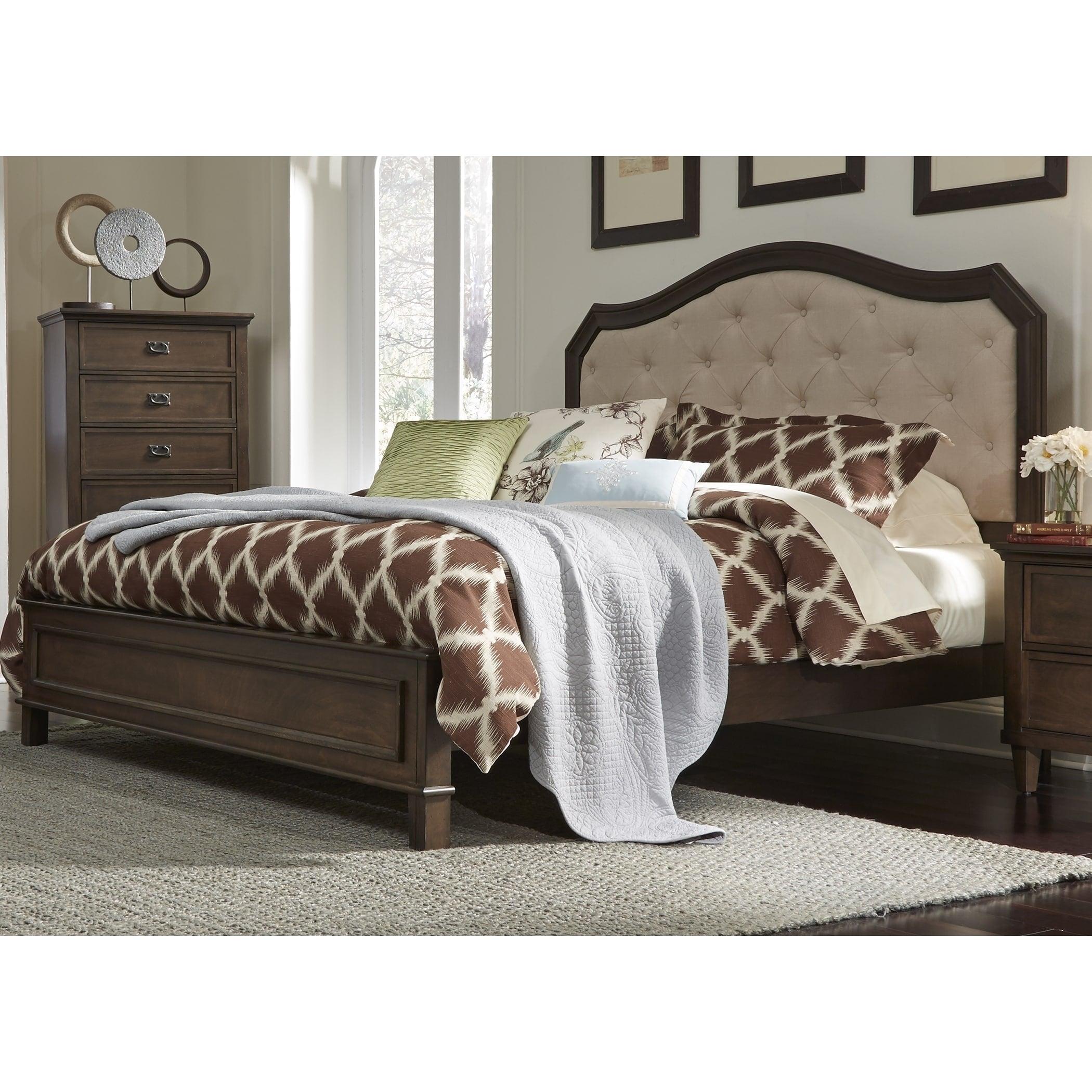 Berkley Heights Antique Washed Walnut Bed