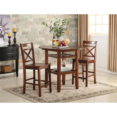 Tartys Cherry Wooden Counter Height Table - Cherry Brown