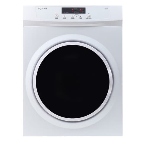 3.5 cu.ft Compact Electric Standard Dryer With Easy Functions
