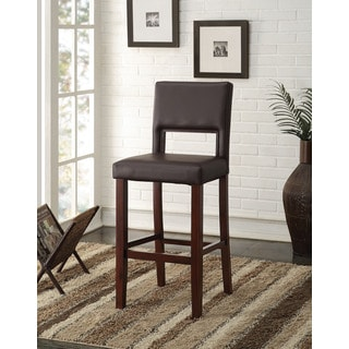 Black PU & Espresso Reiko Bar Chair