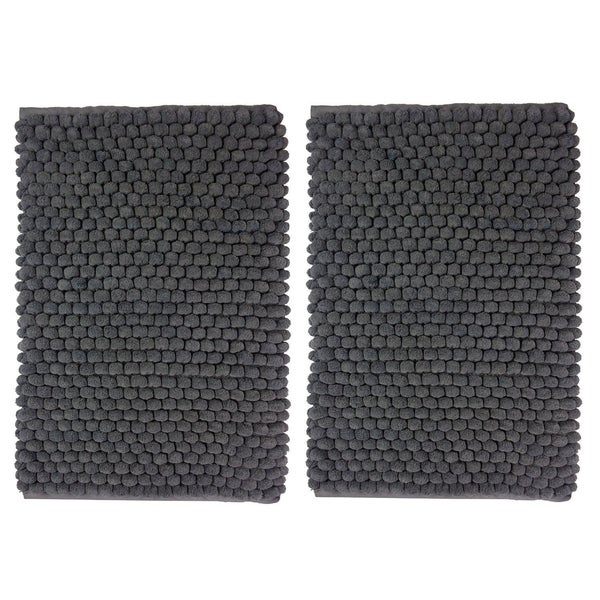 Celebration Cotton/Polyester 2-piece Popcorn-loop Bath Rug Set - 17 x 24