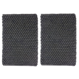 Celebration Cotton/Polyester 2-piece Popcorn-loop Bath Rug Set