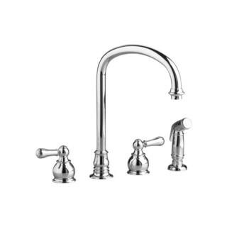 American Standard Hampton Silver Brass 2-handle Bottom Mount Kitchen Faucet