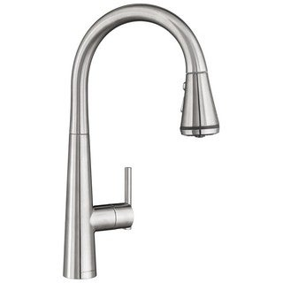 American Standard Edgewater Silver Stainless Steel Pull-down SelectFlo Kitchen Faucet