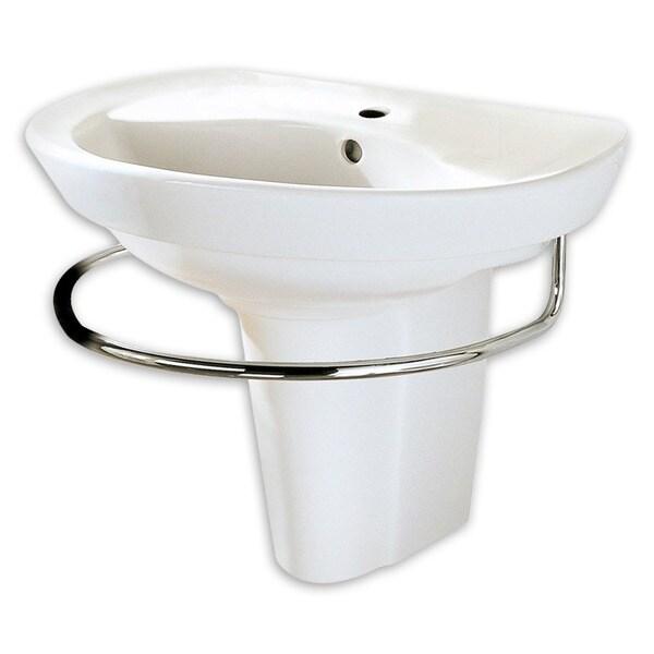 American Standard Ravenna White Porcelain Pedestal Shroud Bathroom Sink Free