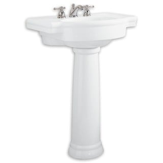 American Standard Retrospect White Fireclay Pedestal Bathroom Sink 0282.800.020