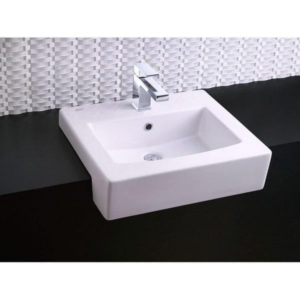 American Standard White Fireclay Bathroom Sink 18900994