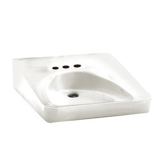 American Standard White Fireclay Bathroom Sink