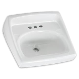 American Standard Lucerne White Porcelain Wall-mount Bathroom Sink