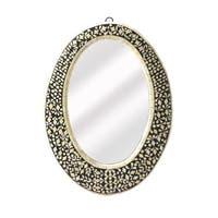 Butler Orzo Black Bone Inlay Oval Wall Mirror