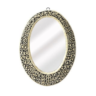 Butler Orzo Black Bone Inlay Oval Wall Mirror