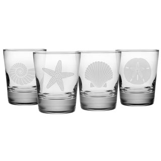 Seashore Double Old Fashioned Glass (Set of 4)