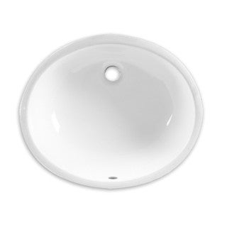 American Standard Ovalyn White Porcelain Undermount Bathroom Sink