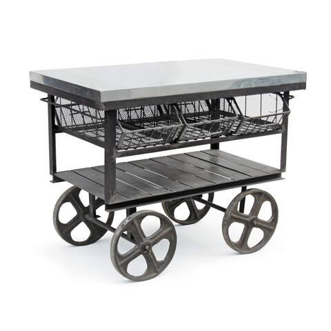 6-drawer Galvanized Steel Station Cart