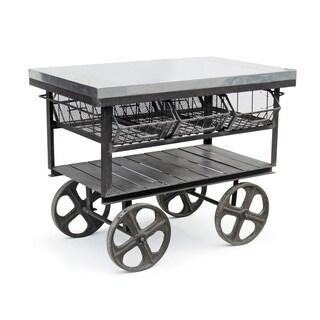 Hip Vintage Grey Steel Factory Station Cart