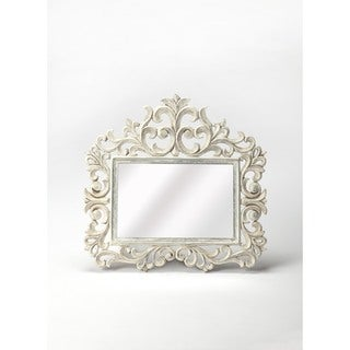 Butler Favart White Carved Wall Mirror