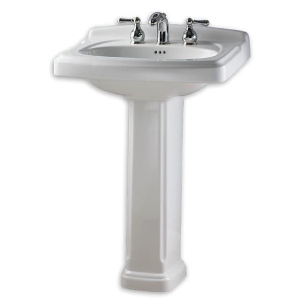 19 Inch Pedestal Sink : ... 401.020 White Porcelain 19.5-inch x 24.38-inch Pedestal Bathroom Sink