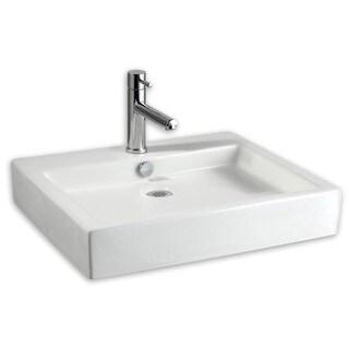 American Standard Studio 0621.001.020 White Porcelain 18.5-inch x 22-inch Vessel Bathroom Sink