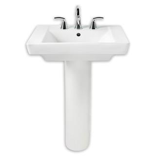 American Standard Boulevard White Porcelain Pedestal Bathroom Sink 0641.100.020