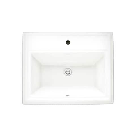 American Standard Town Square Drop-in 0700.001.020 White Clay 18.75-inch x 23.13-inch Bathroom Sink