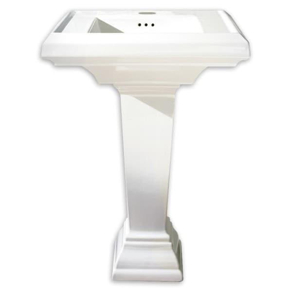 American Standard Town Square Pedestal 0790.800.020 White Porcelain 20.25 24.00 Bathroom Sink