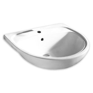 American Standard 9960.001.020 White Fireclay 21.5-inch x 22-inch x 8.25-inch Mezzo Drop-in Clay Bathroom Sink