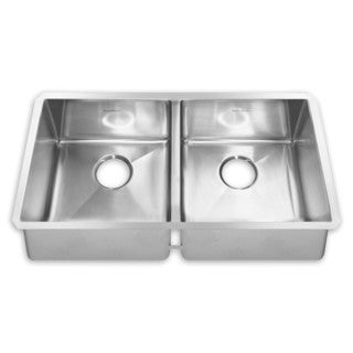 American Standard 12DB.351800.290 Stainless Steel Double-bowl Undermount Sink