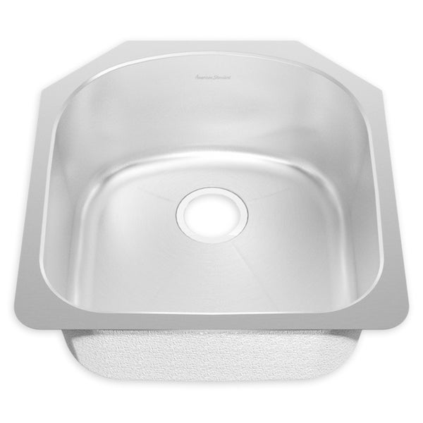 Shop American Standard Prevoir Brushed Stainless Steel Undermount ...