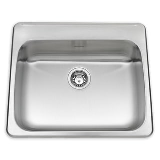 American Standard Silver Stainless Steel Drop-in Kitchen Sink