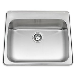 American Standard Silver Stainless Steel Drop-in Kitchen Sink