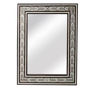 Butler Bone Inlay and Wood Wall Mirror