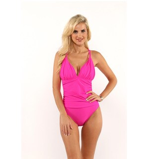 La Blanca Magenta Island Goddess Cross-Back Mio|https://ak1.ostkcdn.com/images/products/12027251/P18900966.jpg?_ostk_perf_=percv&impolicy=medium