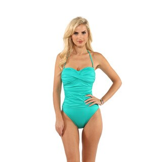 La Blanca Emerald Core Solid Bandeau One-Piece