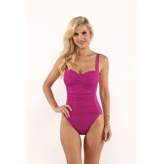 La Blanca Orchard Island Goddess OTS Sweetheart Mio One-Piece|https://ak1.ostkcdn.com/images/products/12027267/P18900977.jpg?impolicy=medium
