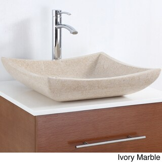 Wyndham Collection Black/Cream/White Stone Vessel Bathroom Sink (Option: Ivory Marble - Cream Finish)