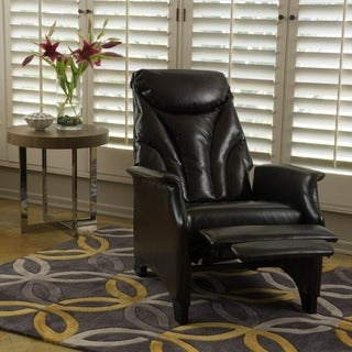Christopher Knight Home Alastair Stitched Bonded Leather Recliner Club Chair