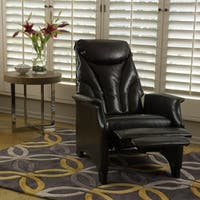 Alastair Stitched Bonded Leather Recliner Club Chair by Christopher Knight Home