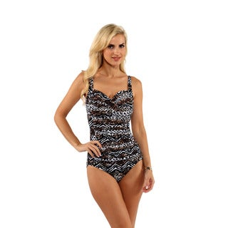 Miraclesuit Animal Print Front-Drape One-Piece
