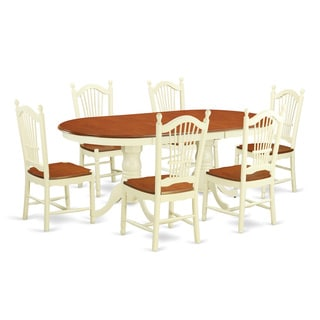 Cream, Off-white Rubberwood 7-piece Dining Set