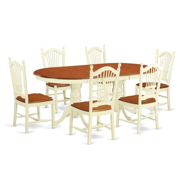 Archibald 7 Piece White Dining Set: Shop Cream, Off-white Rubberwood 7-piece Dining Set