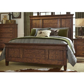 Rocky Mountain Whiskey Brown Panel Bed Set